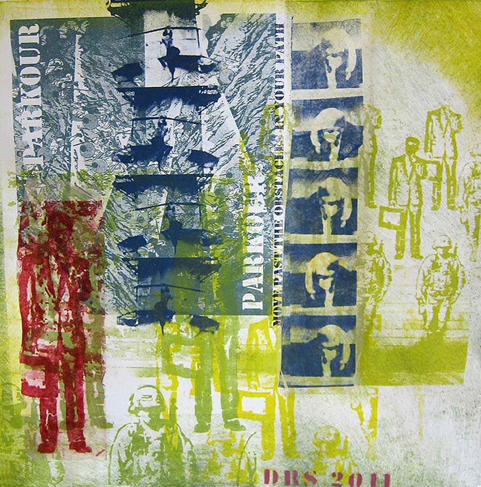 Move past - monotype with transfers  20 X 20