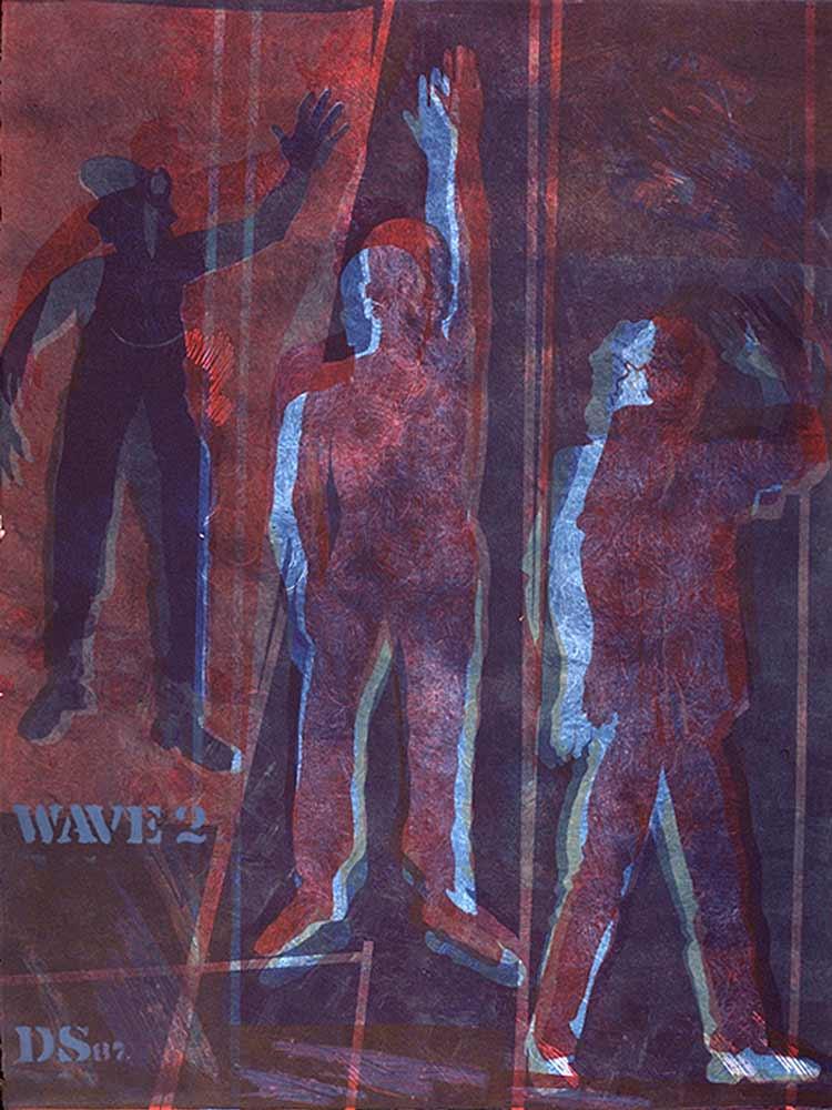 Wave #2 - monotype  22 X 30